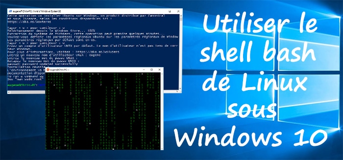 Utiliser le shell bash de Linux sous Windows 10 - Blog